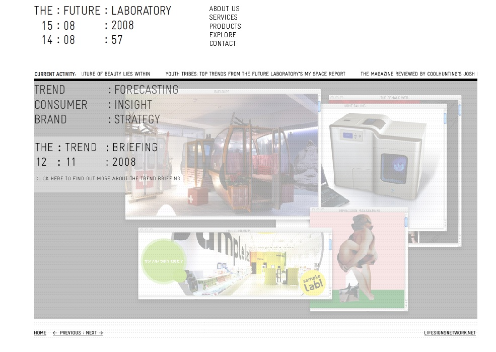 Future Laboratory homepage