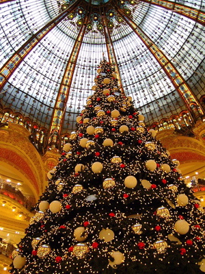 Christmas shopping in Paris, France – Les Galeries Lafayette