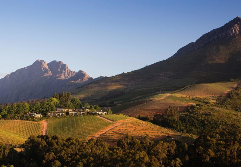Delaire Graff Estate in South Africa's Cape Winelands near Stellenbosch